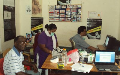 Silicosis Medical camp in Panna, August 2011