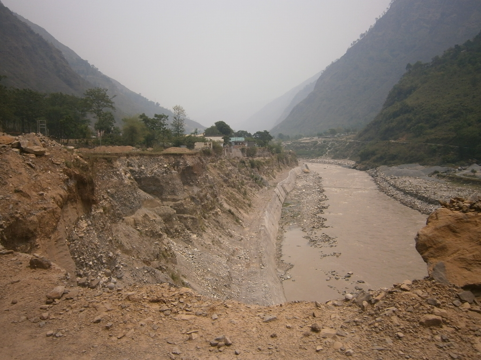 River Protection Work, Road realigned Beyond Kalika