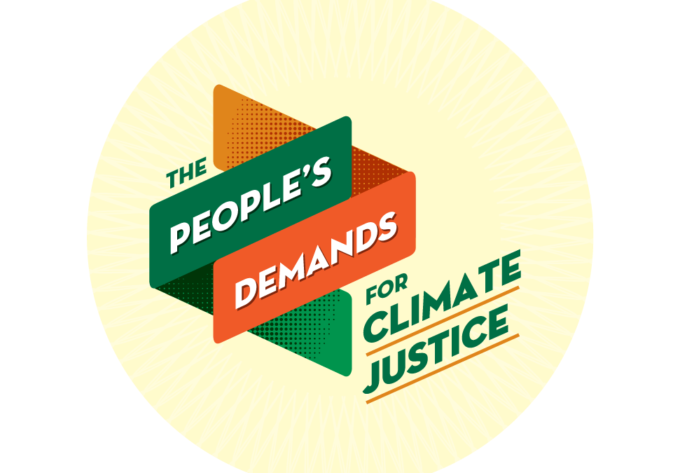 The People's Demands for Climate Justice